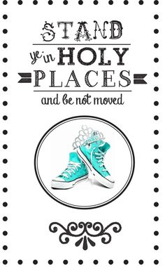 Stand in Holy Places program cover