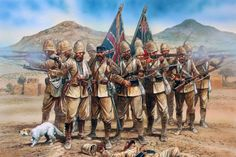The Battle of Maiwand on 27 July 1880 was one of the principal battles of the Second Anglo-Afghan War. Under the leadership of Ayub Khan, the Afghans defeated two brigades of British and Indian troops under Brigadier-General George Burrows, though at a high price: between 2,050 and 2,750 Afghan warriors were killed, and probably about 1,500 wounded.