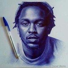 #Throwback to this ballpoint pen drawing of @kendricklarmar #art #africanart#africa #nigeria #artfido #hyperrealism #art #drawing #portrait #realism #artfido #worldofpencils. #worldofartists #pencil #worldstar #pencilart #omenkagallery #arts_help @oscarukonu _art @worldstar @worldofartists @worldofpencils