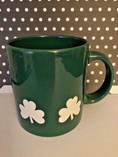 Vtg Waechtersbach Shamrock Irish Clover Coffee#mugs  Cup #stpatricksday  Day Green  #Waechtersbach