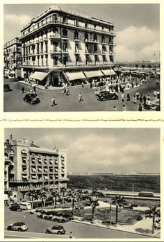 Raml station , Alexandria , Egypt. 1930's and 40's Old Egypt, Cairo Egypt, Nile River Cruise, Ancient Egypt History, Alexandria Egypt, Old Photos, Egyptian, Paris Skyline, Cities