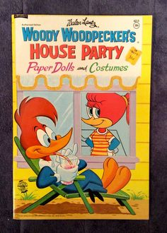 Vintage 1968 Woody Woodpecker'S House Party Paper Doll Book Uncut Unused | eBay