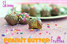 Skinny Peanut Butter Truffles Recipe!  {you'll love this delicious and easy truffle recipe!} #dessert #recipes