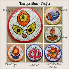 Day 6   Durga Maa Crafts Durga craft Collage photo