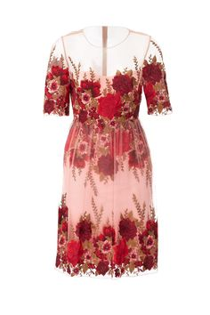 Rent Rose Throw Dress by Marchesa Notte for $135 - $150 only at Rent the Runway.