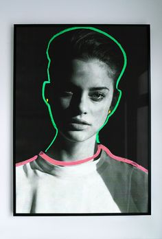 Best Portrait Joe Cruz Picdit Painting images on Designspiration Photoshop, Photomontage, Joe Cruz, Graphisches Design, Design Model, Design Trends, 90s Design, Neon Design, Design Ideas