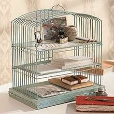 birdcage office - use for art supplies in the sun room