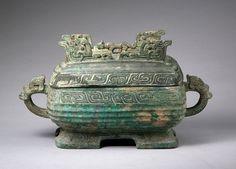 Rectangular food container of the Earl of Lu (Lu Bo xu)  Western Zhou (1027–771 BCE)  Bronze  H. 19 × W. 35 × D. 17 cm
