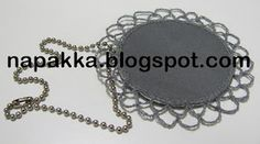 Mialle heijastin Dog Tags, Dog Tag Necklace, Wallet, Chain, Jewelry, Crochet, Diy, Pocket Wallet, Jewellery Making