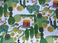 Kinnamark STORY Scandinavian Cotton fabric Swedish design Retro 150cm wide Green