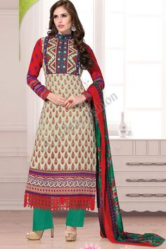 Buy latest Salwar Kameez, Designer Wedding Salwar Suits, Festive Salwar Suits and dresses from house of Andaaz Fashion in UK. Get attractive deals and exclusive Salwar Kameez designs at affordable price range. Trouser Suits, Trousers, Churidar Suits, Salwar Kameez Online, Suit Fabric, Types Of Dresses, Green Cotton, High Neck Dress, Shopping