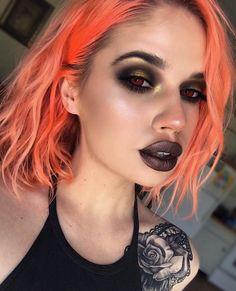 grunge makeup – Hair and beauty tips, tricks and tutorials Clown Makeup, Kiss Makeup, Costume Makeup, Glam Makeup, Makeup Inspo, Makeup Art, Makeup Inspiration, Beauty Makeup, Hair Makeup