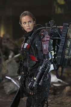 "#Emily Blunt as Sergeant Rita Vrataski, aka ""the Angel of Verdun"" ""the Full Metal Bitch"" (Edge of Tomorrow)"