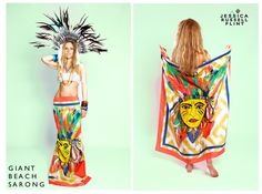 red indian giant beach sarong