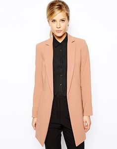 8560097d16d4 asos Oasis Longline Tailored Jacket Best Blazer, Grey Fashion, Minimal  Fashion, Long Jackets