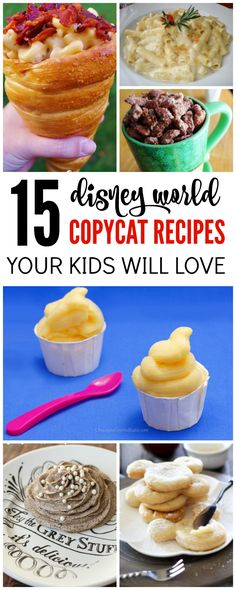 I have some great Copycat Disney World Recipes You can Make at Home for you today! Your little Disney fans will LOVE these delicious recipes, so be sure to check them out!