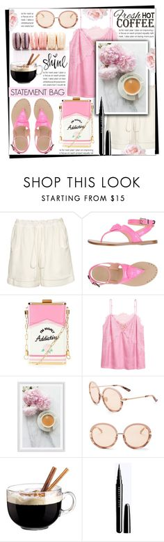 """SPRING COFFEE DATE"" by celine-diaz-1 ❤ liked on Polyvore featuring Chloé, Versace, Pottery Barn, Calvin Klein and Luminarc"