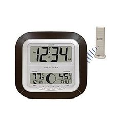 """Web exclusive! With a remote sensor and IT 915 technology that allows for faster transmission of information, this digital wall clock and thermometer is a handy device for the home. Receiver size: 10.25""""H x 9.74""""W x 1.16""""D $32.99 Also at Amazon"""