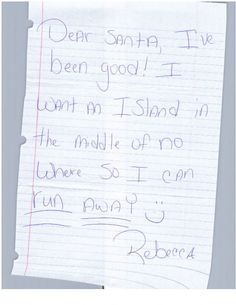 Funny Letters To Santa  Funny Letters Santa And Hilarious