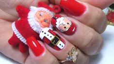 Unhas decoradas natalinas( nail art christmas)