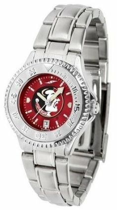 FSU Florida State Seminoles Women's Stainless Steel Dress Watch by SunTime. $88.95. Women. Links Make Watch Adjustable. Stainless Steel. Water Resistan. Officially Licensed Florida State Seminoles Women's Stainless Steel Dress Watch. FSU Florida State Seminoles Women's stainless steel watch. This Seminoles dress watch with rotating bezel color-coordinated to compliment your favorite team logo. The Competitor Steel utilizes an attractive stainless steel band. Perfect...