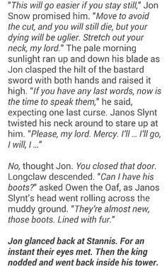 Janos Slynt's execution