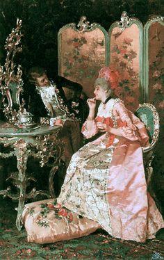 The Flirtation 1878 Luis Alvarez Catala (1836-1901)