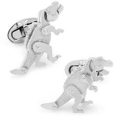 Moving Rivet T-Rex Dinosaur Cufflinks