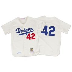 Jackie Robinson 1955 Authentic Jersey Brooklyn Dodgers Mitchell   Ness  Nostalgia Co. fc7f83547