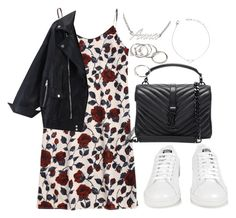 """""""Untitled #4023"""" by theeuropeancloset ❤ liked on Polyvore featuring adidas, Yves Saint Laurent, ANNA and Forever 21"""