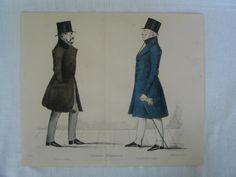 Modern Athenians, Prominent Edinburgh Gentlemen, 1847 Print. Sheet No 37 - Captain Jocelyn and Lt Gen Sir Neil Douglas