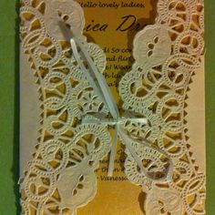 #Bridal shower invitations #DIY
