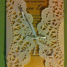 #Bridal shower invitations #DIY