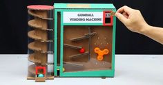 Gumball Vending Machine - this design looks especially clever and entertaining as well as functional