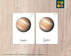 Montessori 3-part Cards about the solar system with two | Etsy Different Fonts, Picture Cards, Solar System, 6 Years, Mercury, Finding Yourself, Activities, Etsy, Montessori Activities