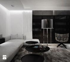 Dom B - projekt wnetrza - Salon, styl minimalistyczny - zdjęcie od Otwarte…