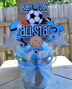 Allstar sports baby shower cakes Baby shower fun Pinterest