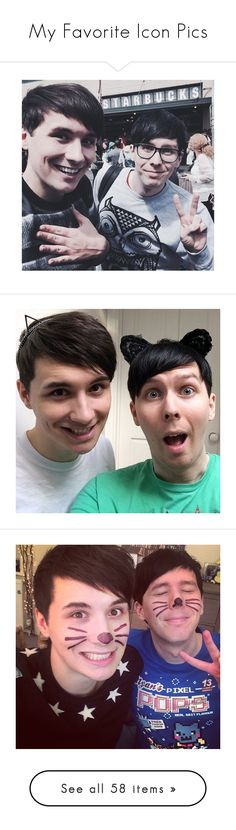 """""""My Favorite Icon Pics"""" by rainbowfangirl ❤ liked on Polyvore featuring rainbowsiconcontest, youtubers, dan and phil, dan, youtube, amazingphil, british youtube, dan howell, pictures and icon"""