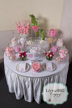 Little Big Company | The blog: Beautiful Pink Candy Buffet for a special girl. -  - #decoration