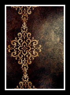 Another brand new Sheri Zeman finish debuting at the August Faux Retreat. Another brand new Sheri Zeman finish debuting at the August Faux Retreat. Faux Walls, Plaster Walls, Textured Walls, Stencil Diy, Stencil Designs, Faux Painting, Mandala Art, Islamic Art, Art Techniques