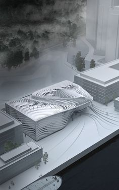 University of Applied Arts – Prof. Greg Lynn : Nora Graw – I love the photoshop … University of Applied Arts – Prof. Greg Lynn : Nora Graw – I love the photoshop element to this model! Architecture Design, Parametric Architecture, Parametric Design, Futuristic Architecture, Concept Architecture, Amazing Architecture, Landscape Architecture, Landscape Model, Rhino Architecture