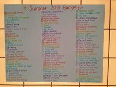My personal teen summer bucket list. #summer2013