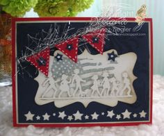 By Bibiana: Happy 4th of July! #patriotic card made with Hero Arts stamps. for more details and handmade cards please visit my personal blog: http://stampingwithbibiana.blogspot.com/