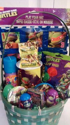 Amazon teenage mutant ninja turtles tmnt gift basket green teenage mutant ninja turtles easter gift basket teenagemutantninjaturtles easter 42 ebay negle Images