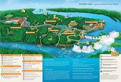 Tourist Map Iguassu National Park