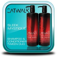 TIGI CATWALK SLEEK MYSTIQUE SHAMPOO CONDITIONER TWEENS SMOOTHES AND HYDRATES 25.36 ONZ EACH *** Check out this great product. #hairinspiration