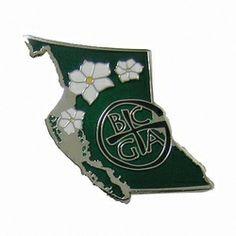 Geocaching / Geocoin lapel pin: BCGA - British Columbia Geocaching Association