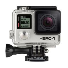 Go Pro Hero 4 by Go Pro. 4K resolution video recording capability at 30fps, or higher than the previous model which reaches 15fps. Another video with a resolution of 2.7k 50fps, 1440p 80fps, 120fps Full HD and 960p HD video at 120 fps. For setting option 240fps slow motion seems to be revoked. For still image capture can take pictures with 12Mpix at 30fps. http://www.zocko.com/z/JKKFt