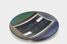 Glass bowl Bullseye glass, 58 x 8 cm #glaskunst #design #kunst #glasfusing #glassart #glass sculptures #fused glass #glassculptuur
