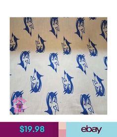 Fabric Duke University Blue Devils Fabric Cotton Throwback Logo Hard To Find #ebay #Home & Garden